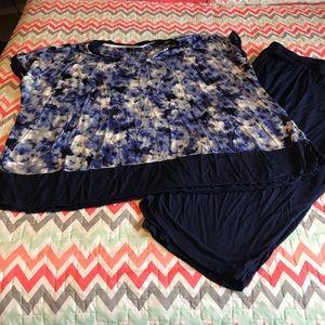 Plus size pajama set